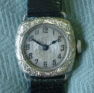 Lady's 20's antique engraved case Roco watch