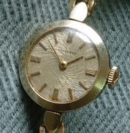 Lady Vintage Longines with unusual swirled dial