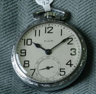 Antique Elgin open face Railway Stlyle pocket watch