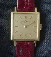 Baume & Mercier 18K ladies mechanical wind dress watch