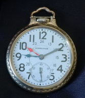 Hamilton dual time zone 21J railway pocket watch