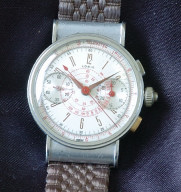 triple button 40's vintage Lorie chronograph