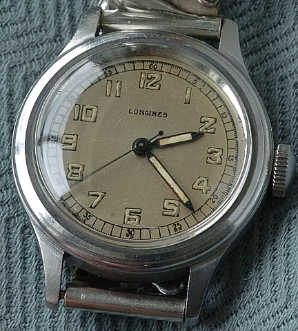 Steel Longines -center seconds circa 1943