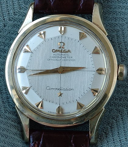 Gold Capped Omega Constellation - Pie Pan Dial