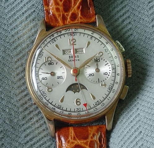 4597 Vintage Driva Triple Calendar Chronograph A Trebor