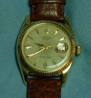 Rolex Datejust 14K ref 6605 - butterfly rotor &#038; roulette date<br />