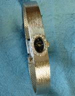 18K white gold and diamond Paul Buhre watch