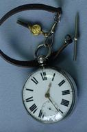 Antique Silver fusee onion case pocket watch