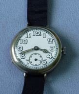 Wire lug porcelain dial transitional watch c1915