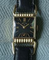 Lord Elgin driver's watch w swivel lugs & black dial