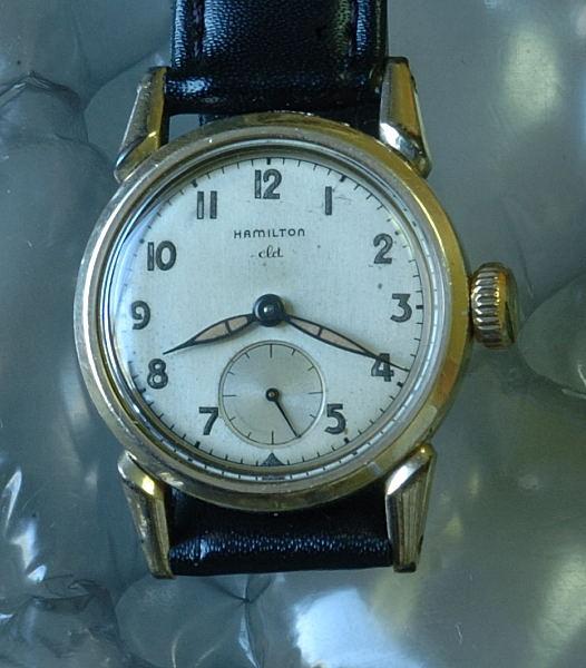 #5467 Hamilton cLd Boy size 40's vintage wristwatch