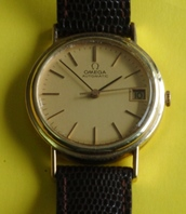 Omega automatic 14K gold circa 1973 vintage