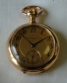 Birks Antique 18k gold pendant watch circa 1911