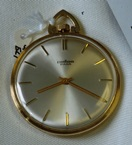 Pallas Para slim 14K gold gents dress open face pocket watch