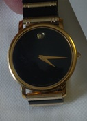 Movado Bold 'black ceramic and gold'