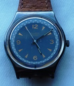 Vintage blue dial Swatch watch