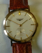 Longines 17 J manual wind dress watch 1960 vintage