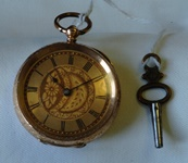 Antique 14K gold Key wind & set pocket watch circa 1880