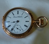 Rare Trenton Watch Co 14K gold open face pocketwatch circa 1894
