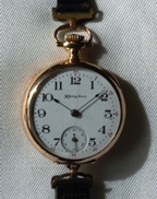 Hampden Molly Stark 14k transitional wristwatch circa 1908