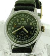 Oris pointer calendar pilot's watch circa 1940