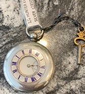 Silver 1/2 Hunter kwks pocket watch circa 1850