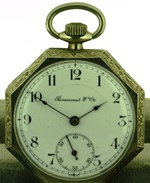 Paramount watch company Art Deco pocket watch