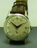 White gold filled Bulova diamond dial circa 1956