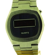 Bulova LED digital display watch from 1976