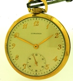 Longines open face 1952 presentation pocket watch