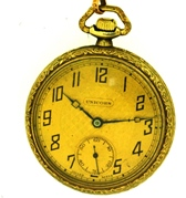 Unicorn (Rolex family) pocket watch, Carsteel 1925 Int. Prov. Champions (Soccer)