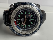 Mortima Super 28 Datomatic 70's Vintage World Time Divers Watch
