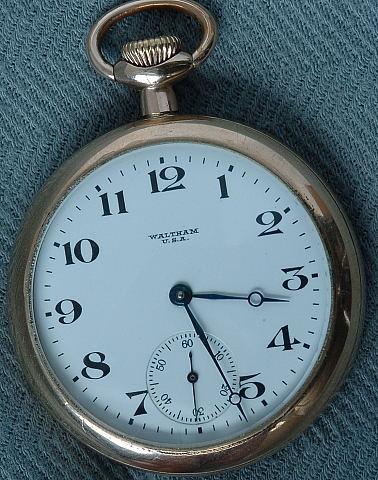 Waltham Open Face pocket watch circa 1883