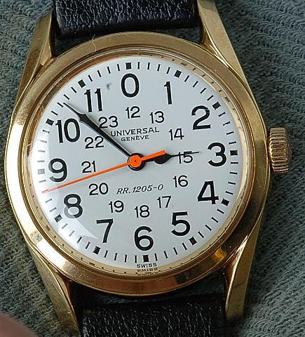 Universal Geneve Railway Wristwatch RR.1205-0